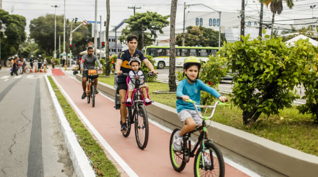 Passeio de bike